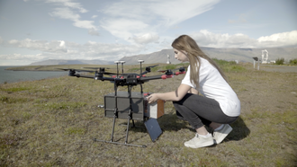 Delivery drone - In 2017 drone delivery startup Flytrex deployed a commercial drone delivery route in Iceland's capital, Reykjavik