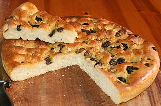 Focaccia - Image: Focaccia erbe olive