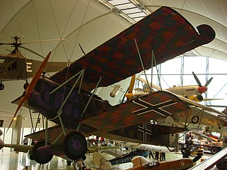 Lozenge camouflage - Another Fokker D.VII with a typical five-color pattern