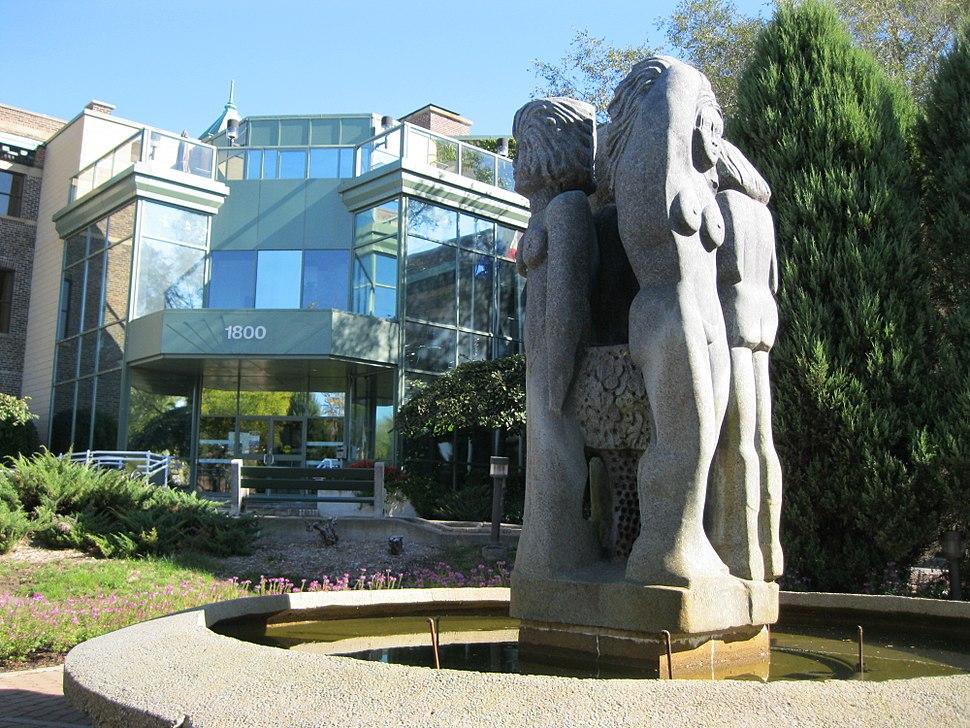 The Fontaine de Vie at Lachine Borough Hall