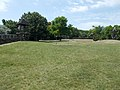 Football field at S watch tower of Fort Fonyód, south entrance, 2016 Hungary.jpg