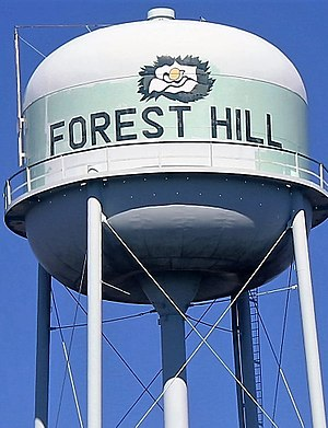 Forest Hill, Louisiana - Image: Forest Hill, LA, water tower IMG 0147