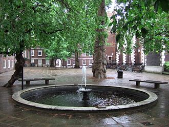 Middle Temple - Fountain Court, at the heart of Middle Temple