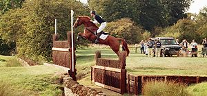 Burghley Horse Trials - William Fox-Pitt, here clearing the Cottesmore Leap, has the most wins at Burghley with six.