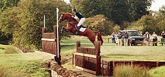 Burghley Horse Trials - William Fox-Pitt, here clearing the Cottesmore Leap on Idalgo in 2006, has the most wins at Burghley with six.