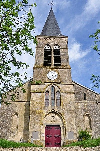 Church of Brizeaux (Canton Seuil-d'Argonne, Meuse department, Lorraine region, France).