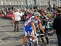 Francesco Reda on Liège-Bastogne-Liège 2011 start line.jpg