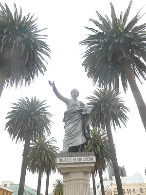 Francisco Bilbao - Statue of Francisco Bilbao Barquín in Valparaíso