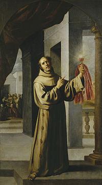 Marchiai Szent Jakab O.F.M olajfestmény Francisco de Zurbarantól