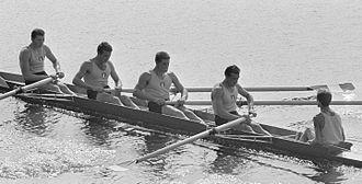 Renato Bosatta - Italian coxed four at the 1964 European Championships, Bosatta is second from right