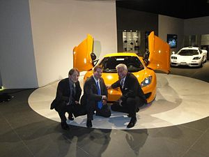Frank Stephenson - Frank Stephenson (right) at the McLaren MP4-12C Launch for Lake Forest Sports Cars
