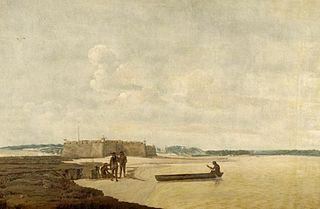 L'Ancien Fort portugais des trois rois mages auprès du rio Grande, au Brésil
