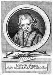 Franz Benda 1783, Radierung von Friedrich Wilhelm Skerl (Quelle: Wikimedia)