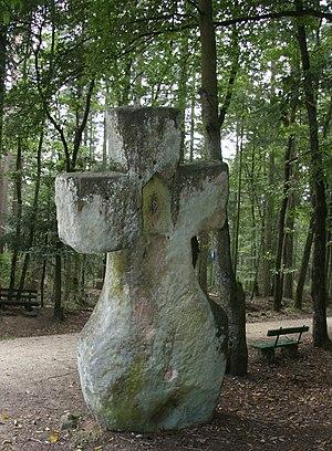 Fraubillen cross - Rear view of the Fraubillen cross