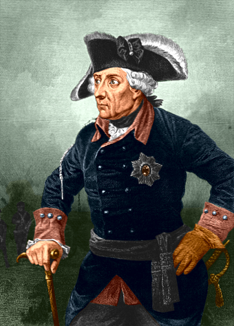 Frederick II the Great, King of Prussia Frederick II of Prussia Coloured drawing.png