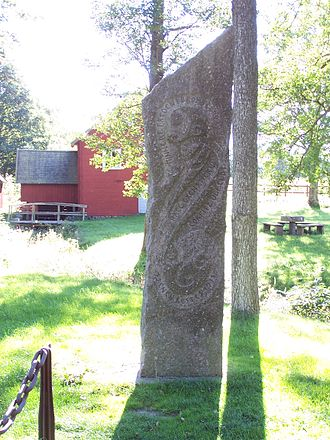 Halland - Image: Fredsstenen i Brömsebro