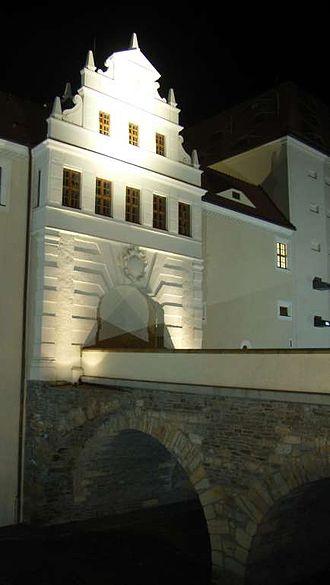 Freudenstein Castle - Castle entrance at night