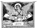 From the cover of Julfrid magazine 1898. Angel holding a banner.png