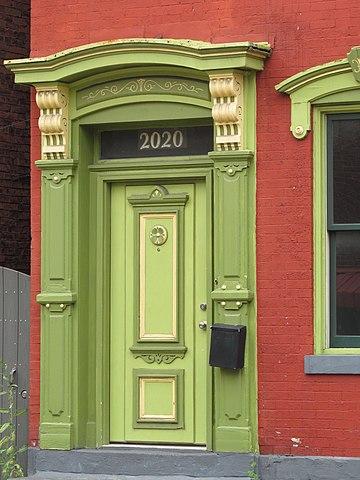 Front door on Sarah Street