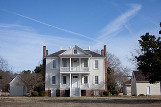 Hope Plantation - Image: Front of 1803 Hope Mantion