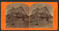 Front view of the Cathedral Peak on the Summits of Sierras, Cal, by Reilly, John James, 1839-1894.png