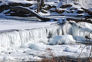 Ice - Frozen waterfall in southeast New York