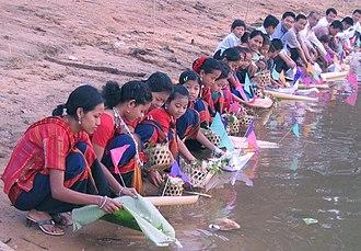 Khagrachhari District - Tribal women near Ful Biju Chengi River, Khagrachhori. Photo:Biplob Rahman