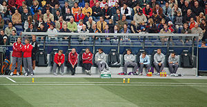 Technical area - Austria Vienna's bench and technical area during a match in 2005