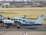 G-TOES Piper Cherokee Warrior 28 Freedom Aviation Ltd (26270005547).jpg