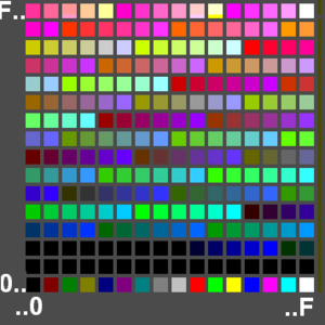 GIF - Bytes Dh to 30Ch in the example define a palette of 256 colors.