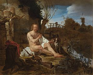 Sportsmen Bathing in a Landscape