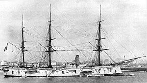 Sébastien Lespès - The French ironclad La Galissonnière (4,585 tons), flagship of the Far East naval division