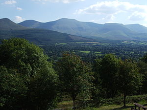 County Tipperary - The Galtee Mountains seen from the Glen of Aherlow.