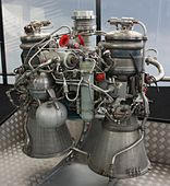 A rocket engine on display