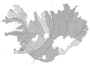 Garður - Image: Gardur map