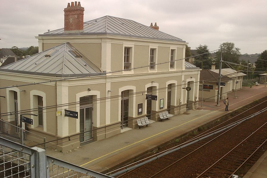 Gare de Valognes vue de la passerelle