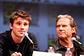 Garrett Hedlund and Jeff Bridges by Gage Skidmore.jpg