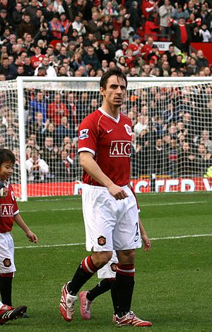 Gary Neville - Neville playing for Manchester United in 2006