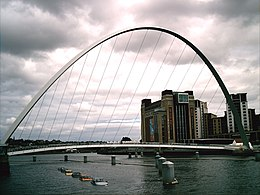 Millenium Bridge we Gateshead