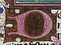 Gathering of the Manna - Hours of Catherine of Cleves - MS M. 917-945 137v - Morgan Library New York, around 1440 (cropped) - D as an initial.jpg