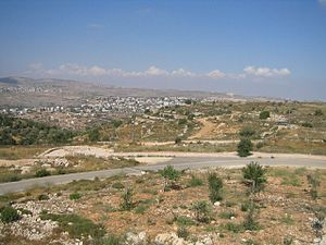 Panorama of Paestinian village near the Israel...