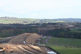 Geelong Ring Road - Lewis Bandt Bridge under construction in 2007