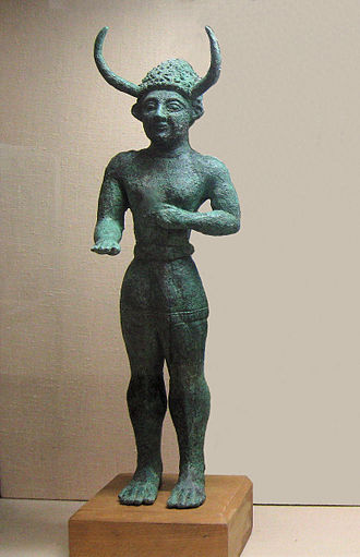History of Cyprus - 'Horned god' from Enkomi, 12th century BC, Cyprus Museum