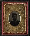 Gem portrait, soldier with kepi. Cased tintype, ninth plate.jpg