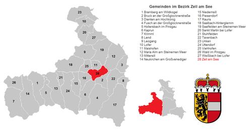 Gemeinden im Pinzgau