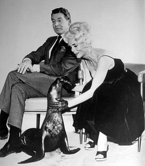 """Burke's Law (1963 TV series) - Barry with actress Marie Wilson in the episode """"Who Killed Marty Kelso?""""."""