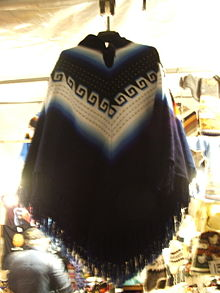 Typical Andes poncho in a flea market in Genoa, Italy