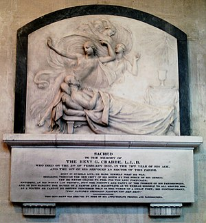 George Crabbe - Monument in St James Church, Trowbridge, Wiltshire.