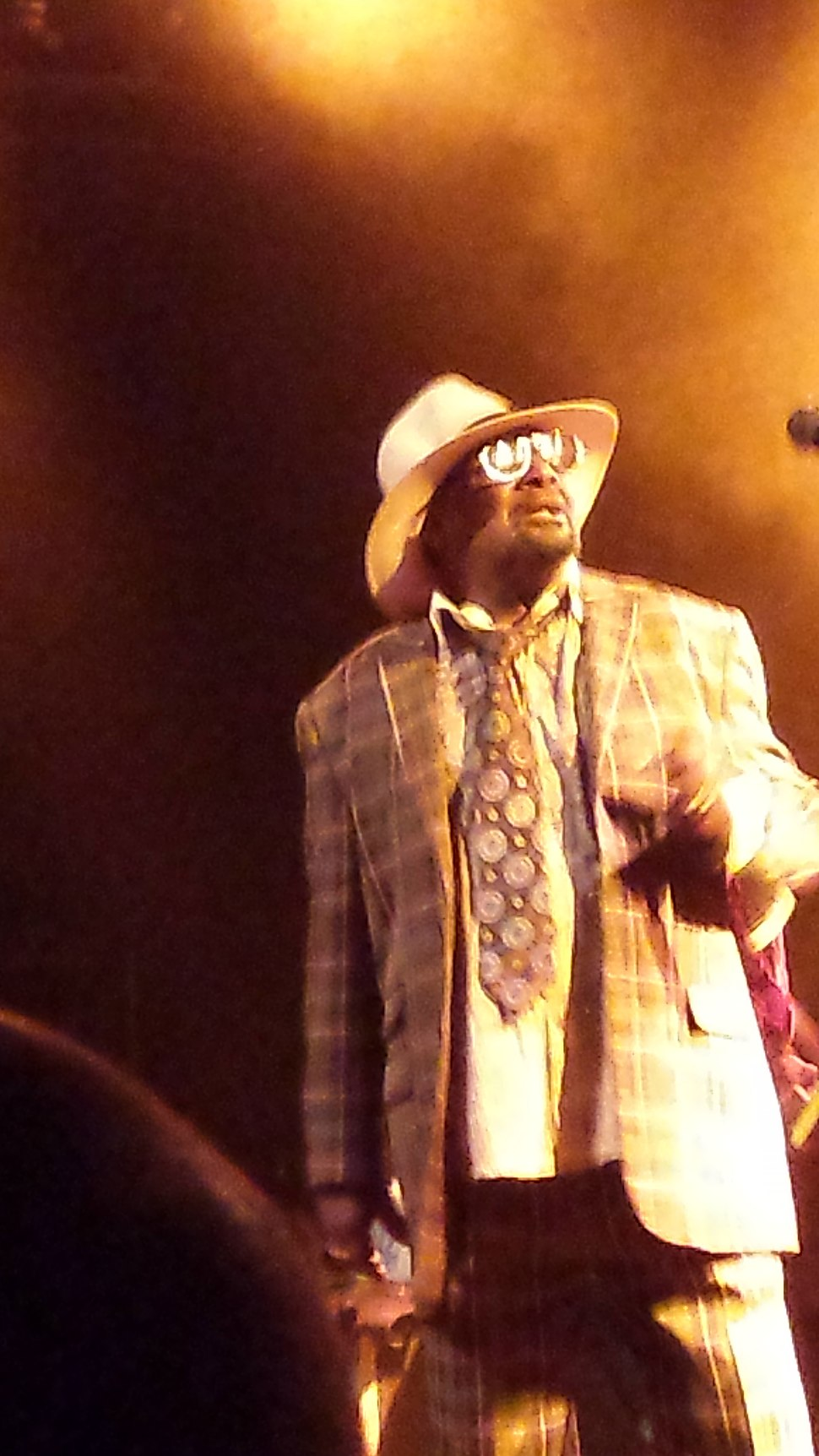 George Clinton performing in 2015