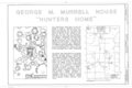 George M. Murrell House, Murrell Road, at junction of Willis Road, Park Hill, Cherokee County, OK HABS OKLA,11-PARHI.V,2- (sheet 1 of 9).png